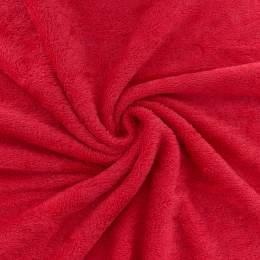 Tissu éponge de bambou rouge coquelicot - 401