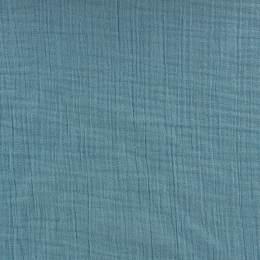Tissu double gaze bleu - 401