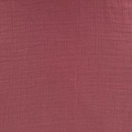 Tissu double gaze bois de rose - 401