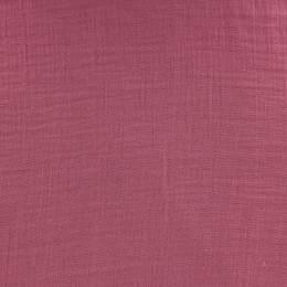 Tissu double gaze framboise - 401