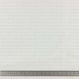 Tissu d'éponge en nid d'abeille blanc 150 cm - 401