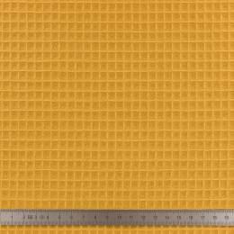 Tissu éponge en nid d'abeille bio ocre - 401