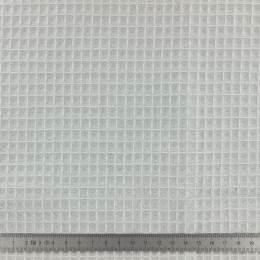 Tissu éponge en nid d'abeille bio gris clair - 401