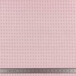 Tissu éponge en nid d'abeille bio rose poudré - 401