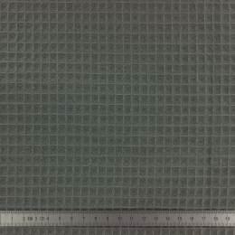 Tissu éponge en nid d'abeille bio gris foncé - 401