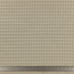 Tissu éponge en nid d'abeille bio noisette - 401