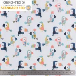 Tissu pul imperméable imprimé toucan - 401