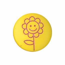 Bouton enfant fleur gravée - 408