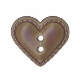 Bouton enfant coeur façon cuir - 408