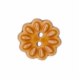 Bouton enfant fleur façon céramique - 408