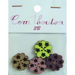 Bouton fleurs (col ass) - 408