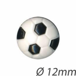 Bouton noir enfant ballon de foot - 408