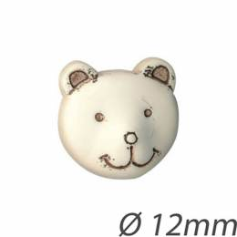 Bouton enfant tête d'ours - 408