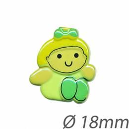 Bouton enfant personnage - 408