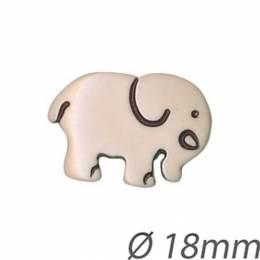 Bouton enfant éléphant - 408