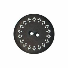 Bouton noir enfant tour gravé dentelle - 408