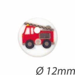 Bouton enfant camion de pompiers - 408
