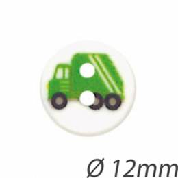 Bouton enfant camion de poubelles - 408