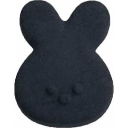 Bouton noir enfant tête de lapin - 408