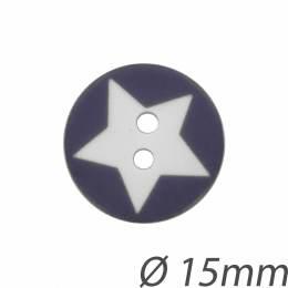 Bouton enfant étoile 15mm - 408