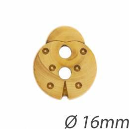 Bouton enfant coccinelle bois 16mm - 408