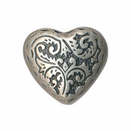 Bouton déco coeur métal - 408