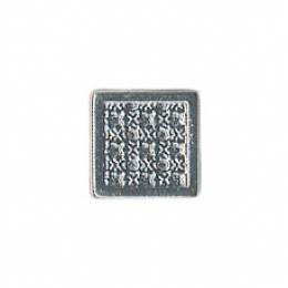 Bouton fantaisie métal carré - 408