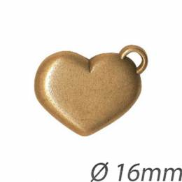 Bouton fantaisie coeur abs - 408
