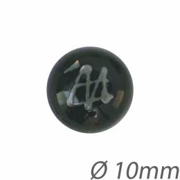 Bouton noir métal - 408