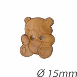 Bouton enfant en bois ours - 408
