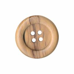 Bouton couture en bois d'olivier - 408