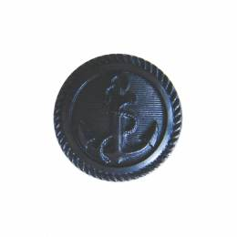 Bouton noir manteau ancre marine - 408