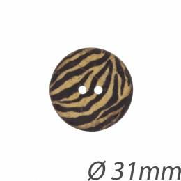 Bouton coco rayé - 408