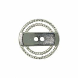 Bouton métal rond ajouré - 408