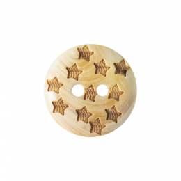 Bouton bois étoile - 408