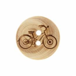 Bouton vélo gravé en bois - 408