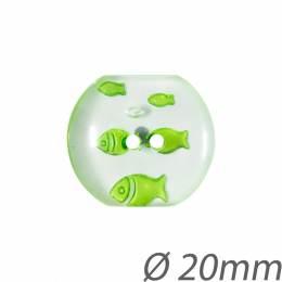 Bouton polyester poisson - 408