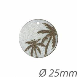 Médaille pendentif palmiers - 408