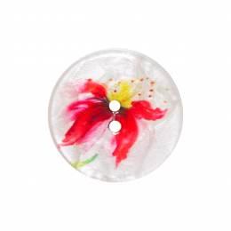 Bouton nacré fleur 2 trous - 408