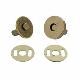 Bouton pression aimanté 15mm bronze - 408