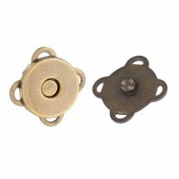 Fermoir aimant à coudre pour sac bronze14mm - 408