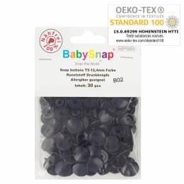 Bouton pression plastique BabySnap® rond marine - 408