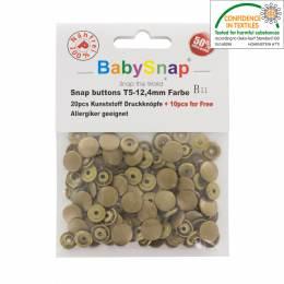 Bouton pression plastique BabySnap®rond bronze - 408