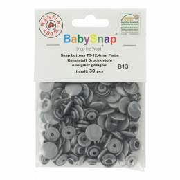 Bouton pression plastique BabySnap® rond gris - 408