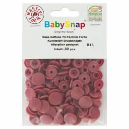 Bouton pression plastique BabySnap® vieux rose - 408