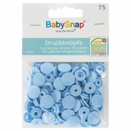 Bouton pression plastique BabySnap® bleu layette - 408