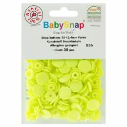Bouton pression plastique BabySnap® jaune fluo - 408
