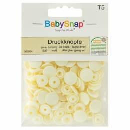 Bouton pression plastique BabySnap® rond écru - 408