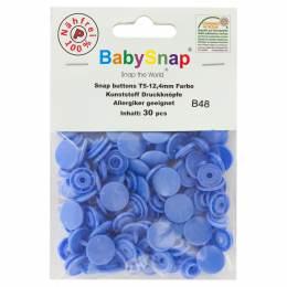 Bouton pression plastique BabySnap® rond bleu - 408
