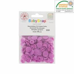 Bouton pression plastique BabySnap® rond lilas - 408